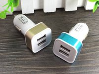 Wholesale Iphone5 Ports For Chargers - 2 Port USB Universal Smart Fuse Circuit-Breaker Protection Dual USB Port 5V 2.1A 1A Car Charger For Apple iphone5 6 7 7s plus Samsung