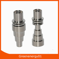 Wholesale titanium nail infinity - 10 14 18mm male&female Infinity Domeless adjustable Grade 2 Titanium Domeless E-Nail Nail for 16mm or 20mm Enail Coil