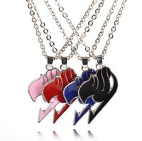 Wholesale Easter Tin Toy - Cosplay Accessories Fairy Tail 4 Color Cosplay Anime Alloy Necklace Charm Pendant Toy Gift 2016 New Movie Jewelry