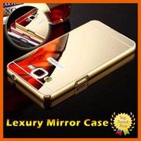 Wholesale Bumper Iphone Aluminum Red - Luxury Aluminum Electroplating Mirror Cases Gold Metal Bumper Hybrid Hard Phone Case for Samsung Note7 S5 S6 S7 J1 J3 j5 A5 iphone