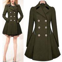 Wholesale Hot Womens Trench Coats - Winter Trench Coat 2017 Hot Sale Womens Coat Classic waist was thin coat Windbreaker Women Trench Female Long Sleeve Overcoat