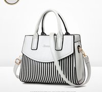 Wholesale Light Gray Handbag - Women Gorgeous Handbags Casual Tote Idiographic Gray Black Two-tone Shoulder Bag Feminine Fashion Handbag bag High Quality