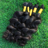 Wholesale Extension Human Hair Curly Micro - Wholesale Human Bulk Hair Extensions Unprocessed Indian Loose Curly Weave Bulk For Micro Braids Cheap Loose Wave Hair Bulks Dye DIY
