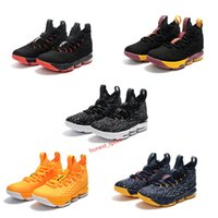 Wholesale Rubber Flooring For Kids - 2017 LeBRon Mesh surface XV EP 15S Men women kids Basketball Shoes for LBJ 15 Top Quality JaMes Sports training Sneakers Size 40-46