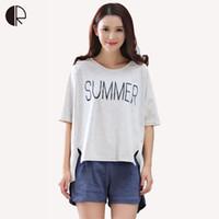 Wholesale- 2017 New Summer Sleepwear Women Pajama Couple Knitted Cotton Suit  Nightwear Causal Lounge AP394 Free Shipping a398de912