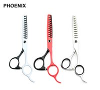 Wholesale phoenix big - PHOENIX 6.0 Inch Hair Scissors Pro Tesoura Hairdressing Styling Tools Scissor 12 Big Teeth Thinning Shears Simple Pack