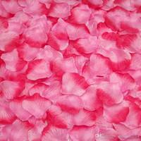Wholesale Orange Silk Petals - Party Decorations Artificial Silk Rose Petals Event Petal Flowers Garlands Gold Red Orange 52 Colors Wedding Accessories