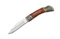 "Wholesale Plain Pretty - Gift Knives Classic Pocket Knife 3.41"" Satin Plain Engraved Steel & Rosewood Handle Lockblack Folder Pretty Tool F599L"