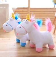 peluche de licorne moelleuse achat en gros de-35 cm Licorne en peluche animal Jouets chèvre en peluche jouets Cadeaux de Noël pour bébés filles doux en peluche poupée Fluffy jouet cadeau KKA2874