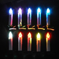 Wholesale Led Taper Candles Wholesale - Wireless LED Remote Control Candles Lights Christmas Tree Party Home Decor candle lighting lamp Easter Wax Taper Candles colorful