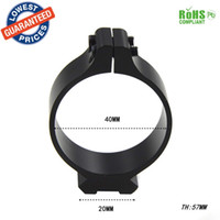Wholesale Tactical Flashlight Clamp Holder - 40mm Tactical Barrel Ring 20mm Scope bases Sighting Telescope Clamp Mount Hunting Flashlight Torch Laser Sight Holder