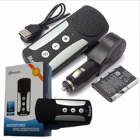 Wholesale Iphone Car Speaker - 2017 brand new 4 in 1 multifunctional mini bluetooth wireless car sunvisor handfree speaker with mic MP3 music player for iphone samsung