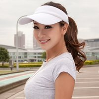 Wholesale Wide Brim Baseball Cap - Wholesale-Stylish Adjustable Unisex Cotton Sun Visor Caps Baseball Golf Tennis Sports Caps
