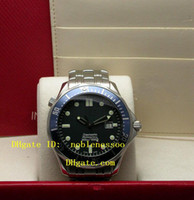 Wholesale Dive Sapphire - LUXURY Equipped Original Box Mens Blue Dial Professional Steel 300M James Bond 007 Watch 2220.80.00 Dive Men's Automatic Watches