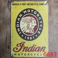 ingrosso pitture di alcol-20x30cm Retrò Moto Dipinti In Metallo Targa in metallo Piatto Shabby Chic Vintage Home Bar Club Decorazione Wall Art Poster Targhe in metallo