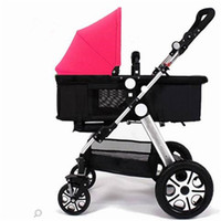 Wholesale Two Way Stroller - Bies Baby Stroller Mountain By 2015 Nano In Ruby Brand New Open Box Shopping Basket Type Four Wheel Shock Baby Cart Two Way Car Baby