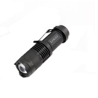 Wholesale CREE Q5 Lumen Zoom Mini LED Flashlight Torch Mode Aluminum Waterproof Zoomable Adjustable Mini flashlight flashlight Water