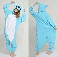 Wholesale Onesie Pyjamas - Wholesale-Free shipping Blue Koala Pikachu Panda men Adult Onesie Warm Animal Pajamas Sleepwear New Hot Sale Pyjama fleece