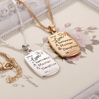 Wholesale gift ideas jewelry - Hot The Love between A Mother & Daughter Mother's Day gift ideas Pendant 2016 new European and American popular jewelry alloy new