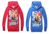 Wholesale Boys Shirt Sweater - ZOOTOPIA children kids baby boys t shirts for hoodies sweatshirt outerwear fashion boys sweater 2-8 years