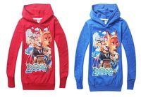 Wholesale Sweater Hoodie Children - ZOOTOPIA children kids baby boys t shirts for hoodies sweatshirt outerwear fashion boys sweater 2-8 years
