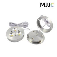 Wholesale Dimmable Led Cabinet Lights - 12V DC 3W Dimmable LED Downlights Under Cabinet Light Puck Lights Ultra Bright Warm White,Natural White,Cool White for Kitchen Lighting
