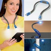flexível pescoço levou lâmpada venda por atacado-Novo Estilo LED Multi-função Flexível Abraço Das Mãos Livres Pescoço Luz de Leitura Lanterna Lâmpada Livro Luz 4 Cores QB872501