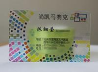 impresión de tarjetas plásticas al por mayor-Acabado mate personalizado Transparente Transparent Plastic Business printing