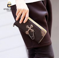 Wholesale Cool Wallets Punk - factory sales brand new Korean male bag chain men cross Xi Card Wallet cool personality Wallet Punk wave male hand bag