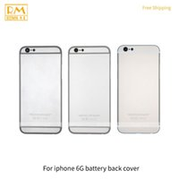 Wholesale Grade House - 1pcs For iphone 6G 6 Plus Full Back Cover Door Rear Case Battery Cover Back Housing Silver Grey Gold Color Replacement phone Parts Grade A