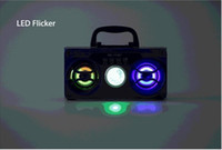 Wholesale Radio Horn Speakers - Portable Square MS-179BT Multimedia Bluetooth Speaker 2 Horns FM Radio TF Card Music Player Computer speakers With Led For phone