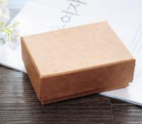 papel kraft grátis venda por atacado-[Sete Simples] Frete Grátis de Alta Qualidade Muji Colar Caixa de Jóias / Amantes Anel Caso / Presente Pacote / Caixa de papel Kraft (Médio)