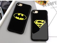Custodia per cellulare MEGA New Batman Superman per iPhone X 7 6 6s 8 Plus 5s SE Custodie cover per smartphone in silicone
