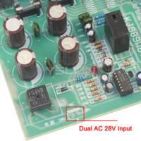 Wholesale Fet Amplifiers - Audio Stereos Power Amplifier FET Board Dual AC28V with Heat Sink 5HZ-100KHZ Stereo Amplifier Board #110013