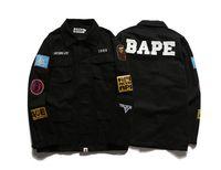 Wholesale Slimming Bomb - Men's Jacket Shark Print Stand Collar MA1 Plus Size Bomber Jacket Outwear Men's Coat Bomb Baseball Jackets Brand shark