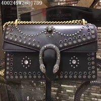Wholesale Leather Studded Black Bag - Dionys studded shoulder bag 038 Borsa Dionys con borchie sac à épaule Dionys clouté free shipping via DHL