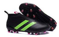 Wholesale New Soccer shoe ace MESSI Ace16 Purecontrol FG AG FG AG Outdoor Football Boots Mens Football shoes all black size