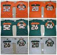 save off 2ad2e 6b9af miami hurricanes 20 reed green jersey
