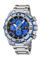 Wholesale Tour France Watch - Free Shipping New FE F16599 4 Men 's Quartz Watch the Tour De France 2014 Blue Dial Silver S.S teel Band Chrono Bike Chronograph + original