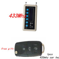 vci peugeot al por mayor-Detector de señal de Control remoto de señal 433Mhz remoto escáner de decodificador de llave + A023 par clonación Control remoto de llave del coche