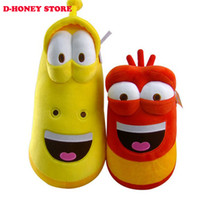 Wholesale fun stuff - Top Selling Item Fun Insect Slug Creative Larva Plush Toys Stuffed Doll For Children 2pcs lot Christmas Gift