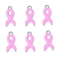 ingrosso aiuta i braccialetti-Ciondolo ciondoli un nastro rosso Anti-aids simbolo fai-da-te accessori in lega di zinco pendenti a nastro per anello collana braccialetto