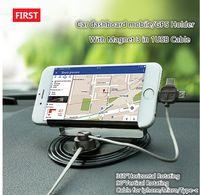 soporte para coche iphone usb al por mayor-El soporte para teléfono universal 360 ° se monta con 3 en 1 cable usb magnético para iPhone X 8 7 Samsung tipo c