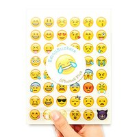 Wholesale Smiley Diary - 20 Sheets 960 Die Smile Face Emoji Stickers for Diary Photo Album Reward Notebook Smiley Stickers for Teacher Merit Praise Decor