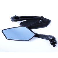 evrensel motosiklet yan aynaları toptan satış-Toptan-1 Çift Evrensel Motosiklet Ayna Scooter Dikiz Yan Retroviseur Retrovisor de Moto Motosiklet Aksesuarları KOSO Aynalar