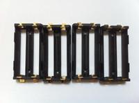 Wholesale Tab Batteries - 10pcs High quality SMT battery holder DIY Box Mod li ion ni-mh lifepo4 18650 battery holder dual 2*18650 battery sled with SMT tabs