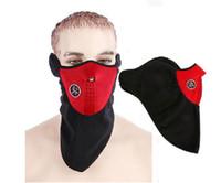 bisiklet yarım yüz maskesi toptan satış-Toptan-Rüzgar Geçirmez Bisiklet Bisiklet Bisiklet Snowboard Açık Maskeler Toz Geçirmez Neopren Boyun Sıcak Yarım Yüz Maskesi Kış Spor Aksesuarları
