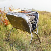 Wholesale stainless steel protable Charcoal BBQ grill multifunction BBQ grill outdoor charcoal BBQ grill