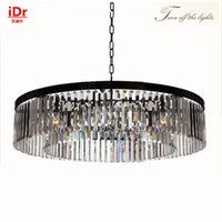 Wholesale European Led Crystal Chandeliers - Round lamps High-end European-style chandelier K9 lights crystal chandelier Bedroom lamp Hall Luxury lamp quality guarantee