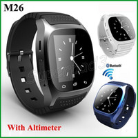 Wholesale wireless camera for cell phone for sale - Group buy For iOS Android Cell Phone Bluetooth Wireless Wearable LED Screen Smartwatch M26 Sport Stopwatch Altimeter Smart Watch With Retail Box